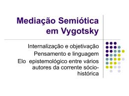 Conceito mediação semiótica em Vygotsky