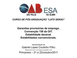 GARANTIAS PROVISÓRIAS DE EMPREGO