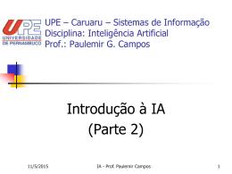 introducao_IA2 - Centro de Informática da UFPE