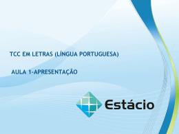 TCC EM LETRAS (LÍNGUA PORTUGUESA)