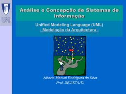 Um diagrama de componentes