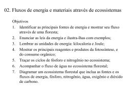 CAPÍTULO 2. Fluxos de energia e materiais através de