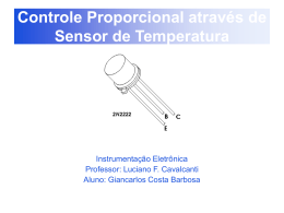 Controle Proporcional através de Sensor de Temperatura