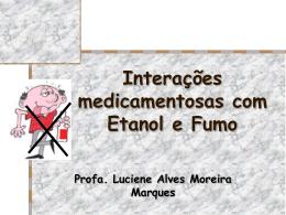 Interações medicamentosas com Etanol - Unifal-MG