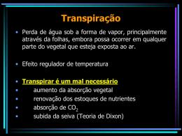 Transpiração