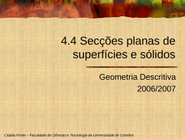 8_Seccoes planas - Universidade de Coimbra