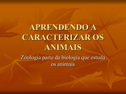APRENDENDO A CARACTERIZAR OS ANIMAIS