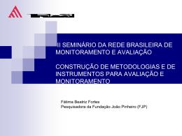 Apresentação II SEminário Rede de MOnitoramento 17