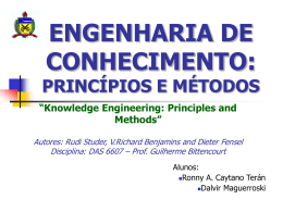 Knowledge Engineering: Principles and Methods