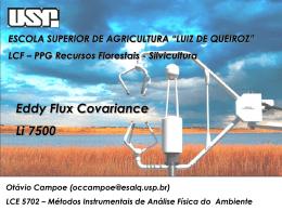 Eddy flux covariance - Li 7500