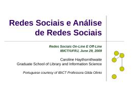 Redes Sociais - Ideals - University of Illinois at Urbana