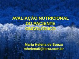 avaliação nutricional do paciente oncológico