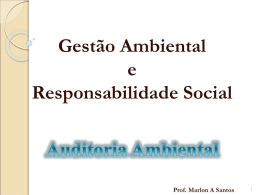 auditoria ambiental - Professor Marlon