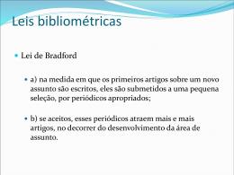 Leis bibliométricas