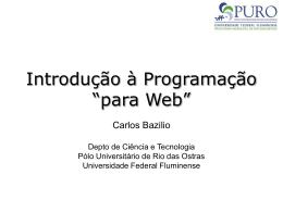 Introdução à Programação para Web - Instituto de Computação
