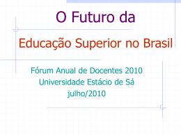 Palestra Paulo Barone - Universidade Estácio de Sá