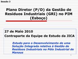 (P/D) da Gestão de Resíduos Industriais (GRI) no PIM