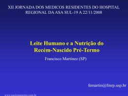 (HRAS):Leite humano e nutrição do