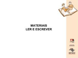 Materiais Ler e Escrever