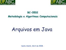 Arquivos em Java
