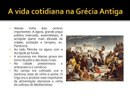 A vida cotidiana na Grécia Antiga