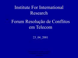 EVOLUÇÃO DOS CONTRATOS DE INTERCONEXÃO: Uso de Rede