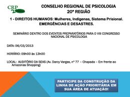 - Conselho Regional de Psicologia