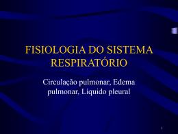 circulação pulmonar edema liquido pleural