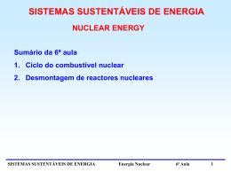 6ª Aula - Centro de Fusão Nuclear