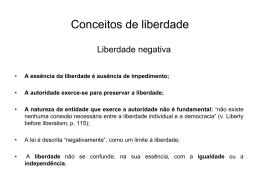 liberdade - Faculdade de Direito da UNL