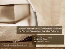 direitos económicos, sociais e culturais