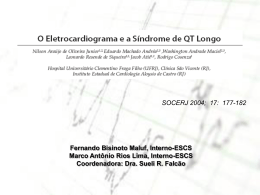 O ECG e a Síndrome do QT Longo