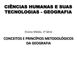 A Ciência Geográfica
