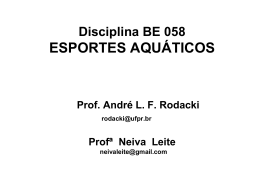 Fisiologia do Exercício - programa da disciplina