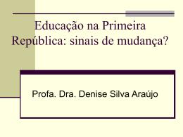 Educação na República Velha
