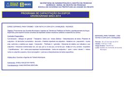 programa de capacitação da egpcr cronograma maio 2014