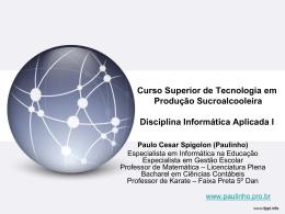 Produção Sucroalcooleira 1