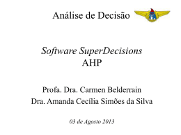 aula 1a superdecisions ahp