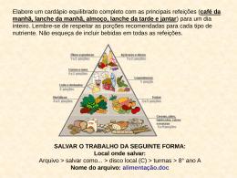 SALVAR O TRABALHO DA SEGUINTE FORMA