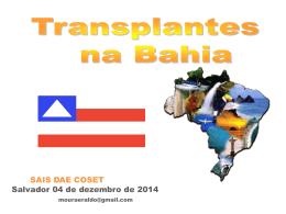 Transplante na Bahia
