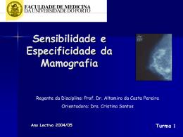 Sensibilidade da mamografia