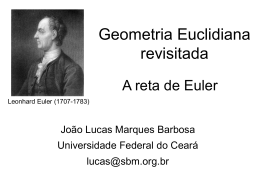 A Reta de Euler