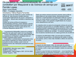 Os paralelos da institucionalização do modelo de