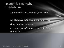 B1. UNIDADE 1 - decisões financeiras intertemporais