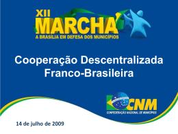 A Cooperação Descentralizada Franco