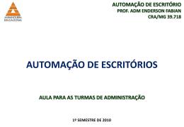 AUTOMAÇÃO DE ESCRITÓRIO
