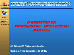 Palestra sobre o Registro da Propriedade Intelectual nas