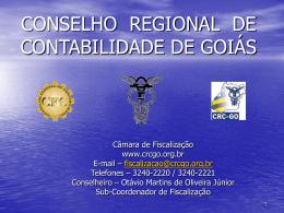 Orientação da Fiscalização do CRC-GO