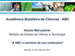 Slide 1 - Academia Brasileira de Ciências