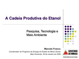 A Bioenergia em Minas Gerais